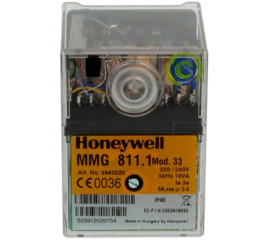 Блок управления (топочный автомат) Honeywell Satronic MMG 811.1 Mod 33